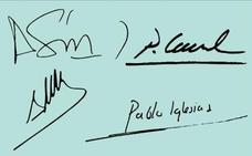 Dime cómo firman... y te diré cómo son nuestros políticos