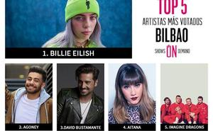 ¿Qué cantante quieres que venga a Bilbao? Vota a tu favorito