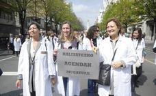 2.000 profesionales sanitarios exigen en Bilbao la mejora de la Atención Primaria