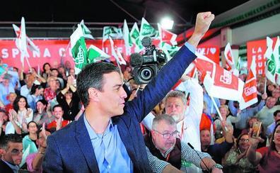 Sánchez explota su perfil institucional y busca crecerse en el todos contra uno