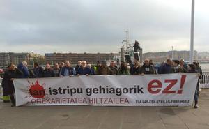 Sindicatos denuncian en Portugalete la muerte de un trabajador en una guardia de 48 horas