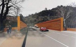 El avance de las obras del puente de la Baskonia corta el paso peatonal dos semanas