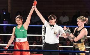 Sadaf Khadem, la primera boxeadora iraní en luchar sobre un ring