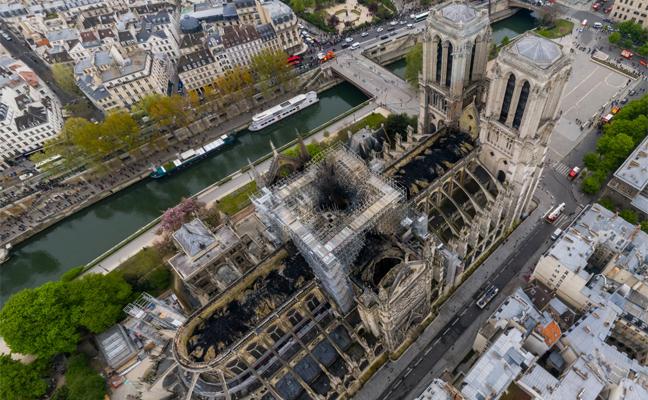 La imagen de Notre Dame que permite acercarte ael incendio