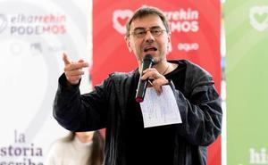 Monedero reivindica el espíritu «antifranquista» del 3 de marzo de Vitoria para «plantar cara a recortes y corrupción»