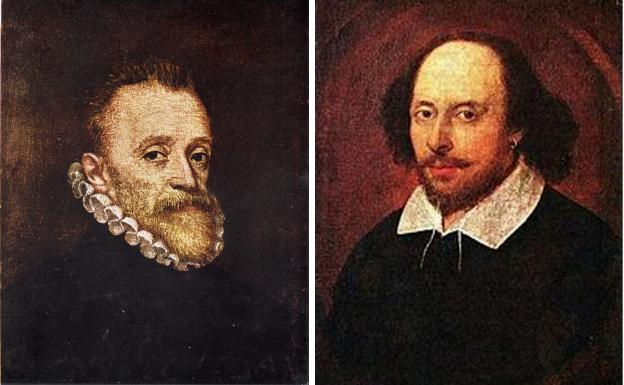 Miguel de Cervantes eta William Shakespeare.
