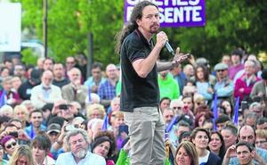 Iglesias defiende en Bilbao el derecho a decidir y el sentimiento nacional vasco