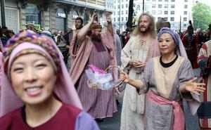 Los evangélicos llevan el musical 'His Life' a las calles de Bilbao