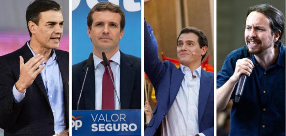 Así preparan los candidatos el primer debate electoral en TVE