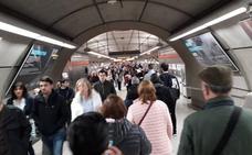 El metro recupera la normalidad tras un parón de más de una hora por un arrollamiento