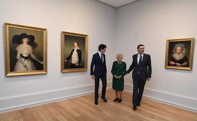 Los tres goyas recuperados de la Guerra Civil ya se pueden ver en el Bellas Artes