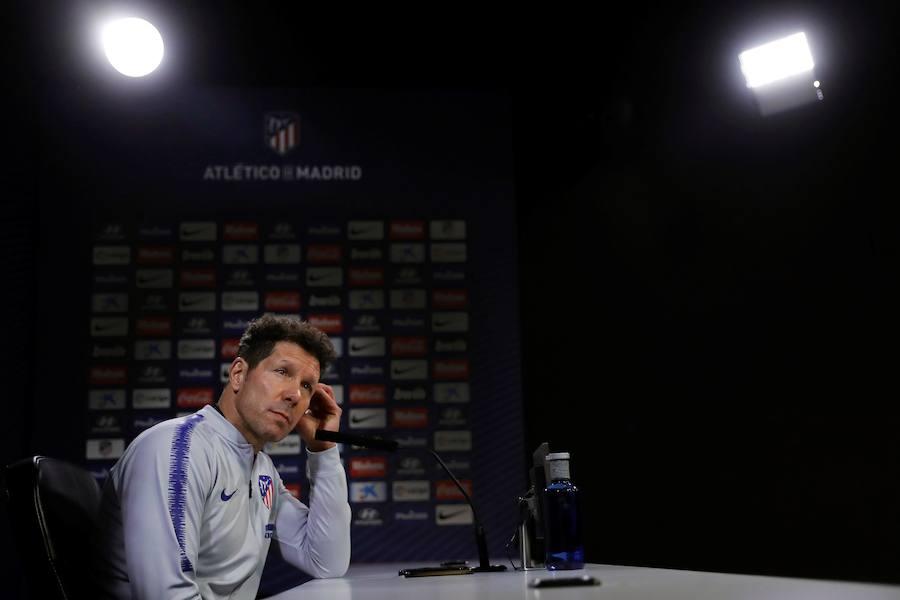 Simeone: «Me alegro de que al Atlético se le exija todos los años estar arriba»