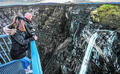 La Diputación proyecta un 'puente tibetano' y un nuevo mirador para potenciar el Salto del Nervión