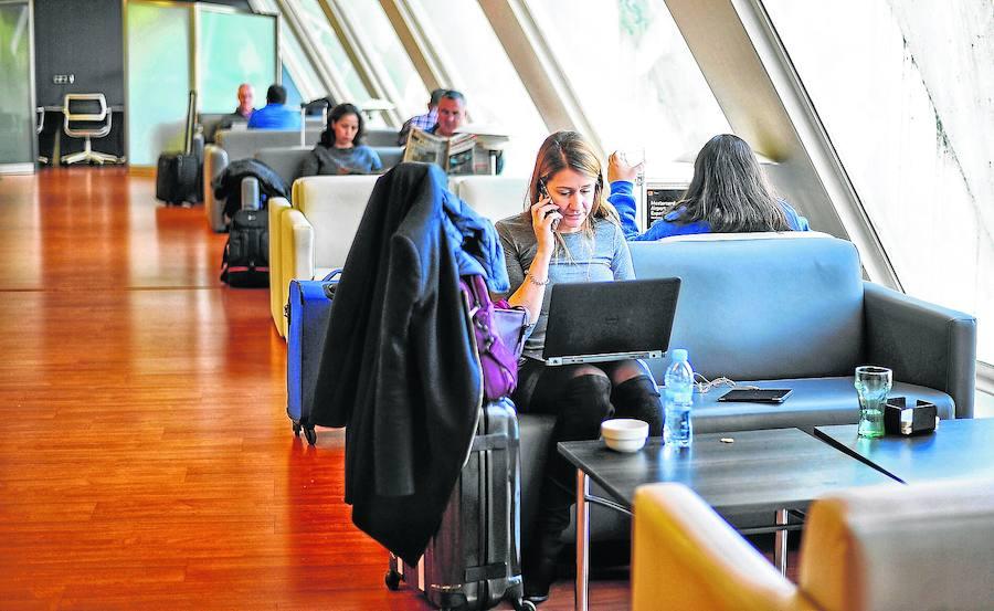La sala Vip del aeropuerto de Bilbao vuela alto