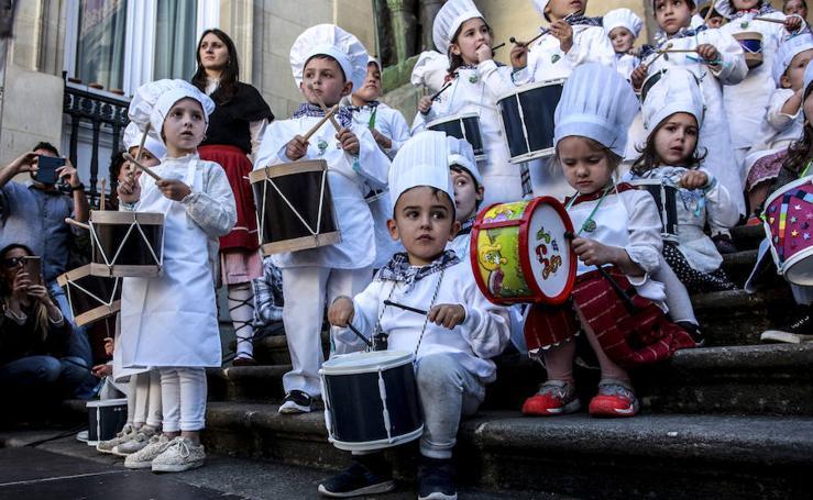 La hora de los tambores txikis