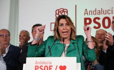 El PSOE andaluz asume el triunfo como un refuerzo de Susana Díaz
