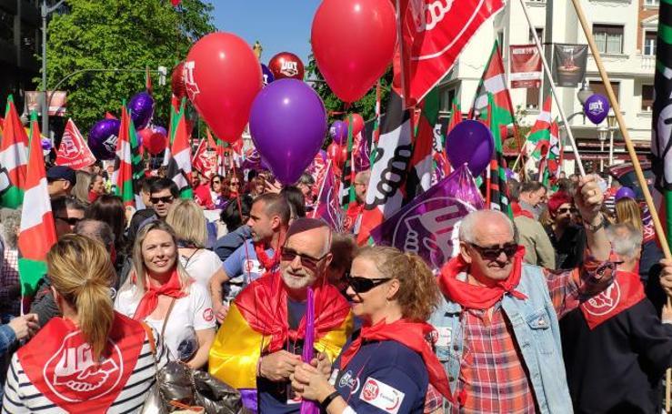 La movilización de Bilbao, en imágenes