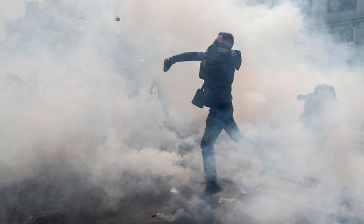 Las imágenes de la jornada de protestas en París
