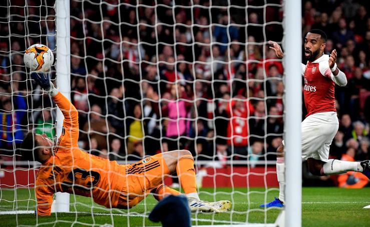 Las mejores imágenes del Arsenal-Valencia