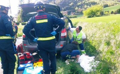 Un herido en un accidente entre un coche y una moto en Ocio