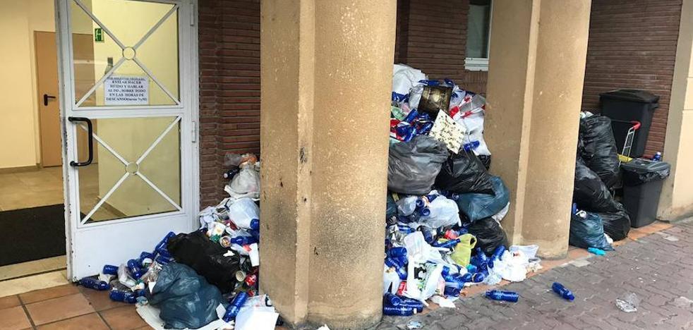 La basura se acumula en las comisarías de la Ertzaintza en Gipuzkoa