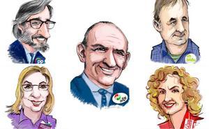 Los cinco candidatos a presidir la Diputación Foral de Álava