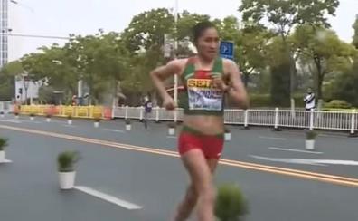 La subcampeona mundial y olímpica de 20 km marcha, sancionada cuatro años por dopaje