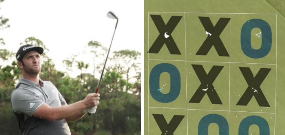 Rahm juega a la versión golfista del 'tres en raya'