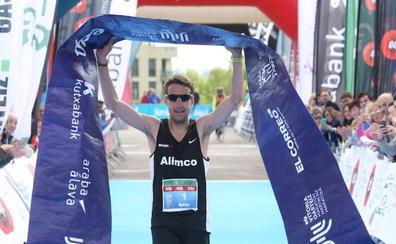 Marc Hurtado y Sara Trelles reinan en el maratón de Vitoria