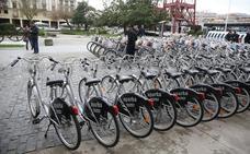 El mal tiempo reduce en un 30% el uso de las bicis públicas getxotarras