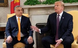 Trump aplaude en la Casa Blanca la política xenófoba del húngaro Orban