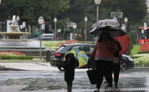 Aviso amarillo en Euskadi por fuertes lluvias