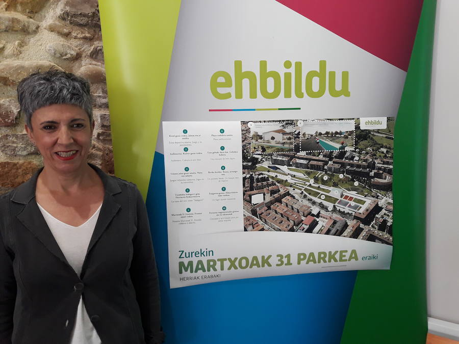EH Bildu presenta su parque para los terrenos liberados por el tren