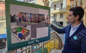 Abaroa idea un plan de limpieza en Bermeo con paneles decorativos para contenedores