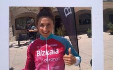 Ainara Elbusto, la más combativa en la primera etapa en Burgos