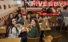 Five Guys (Bilbao): Hamburguesas para don Diego