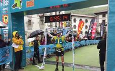 Ion Azpiroz y Uxue Fraile, campeones de Euskal Herria de ultra trail