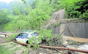 Registros de lluvia de casi 200 litros provocan inundaciones en Gipuzkoa