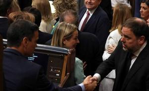 Junqueras, a Pedro Sánchez en el Congreso: «Tenemos que hablar»