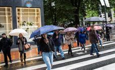Las lluvias vuelven hoy a Euskadi y se quedarán el fin de semana