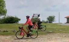Seis meses de sanción por subir en una bici municipal al Pagasarri