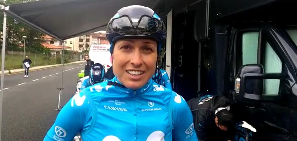 Mavi García, tras su podio en la Emakumeen Bira: «Lo importante era no perder tiempo para luchar por la general»