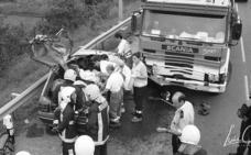 La muerte de cuatro jóvenes escayolistas en la carretera en Abanto