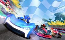 Un erizo sobre ruedas en 'Team Sonic Racing'