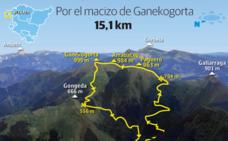 Dos rutas para subir al Ganekogorta