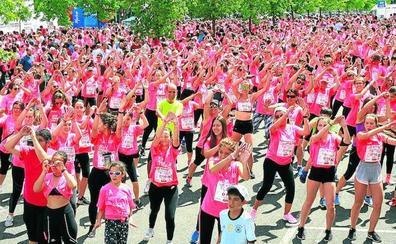 Una marea rosa contra el cáncer inundará Vitoria el domingo