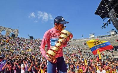 Carapaz gana el Giro y Landa se queda sin podio por 8 segundos