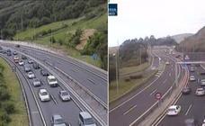 La A-8 recobra la normalidad en sentido Bilbao tras varios kilómetros de colas