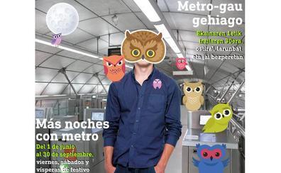 Horario de Metro Bilbao en verano de 2019
