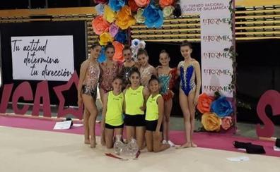 Cuatro medallas para el Oskitxo y el Supra Rítmica Vitoria en Salamanca
